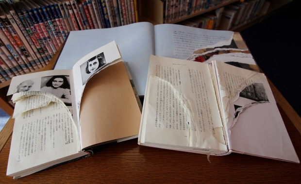 Anne Frank books vandalized in Tokyo