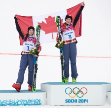 Canada gold and silver medal in ski cross