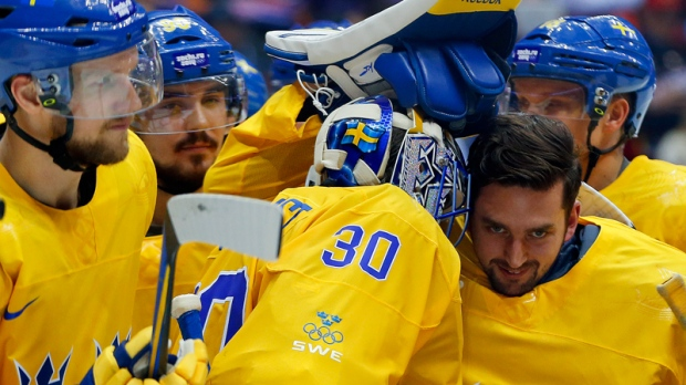 Swedes celebrate hockey win in Sochi, Russia