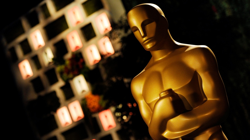 An Oscar statue is pictured at the Governors Ball Press Preview for the 86th Oscars, on Thursday, Feb. 20, 2014, in Los Angeles. (Chris Pizzello/Invision/AP)