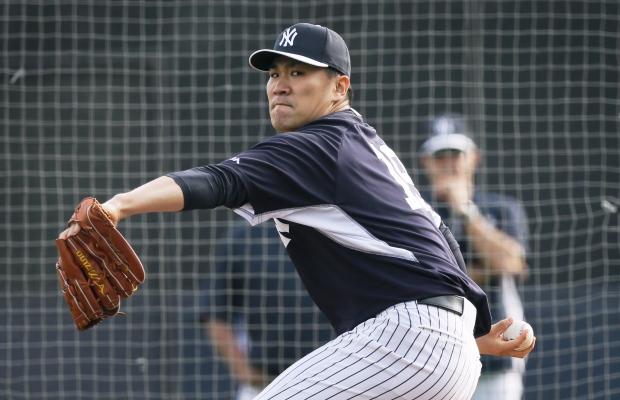 Masahiro Tanaka pitches for Yankees