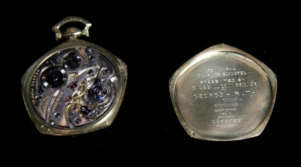 Babe Ruth pocket watch from 1923 World Series