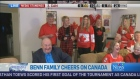 CTV News Channel: Benn's family cheers on Canada