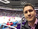 Peter Akman at the Olympic Gold Medal Game