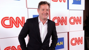 Piers Morgan of the CNN show 'Piers Morgan Live' arrives at the CNN Worldwide All-Star Party in Pasadena, Calif. on Friday, Jan. 10, 2014. (Chris Pizzello / Invision)