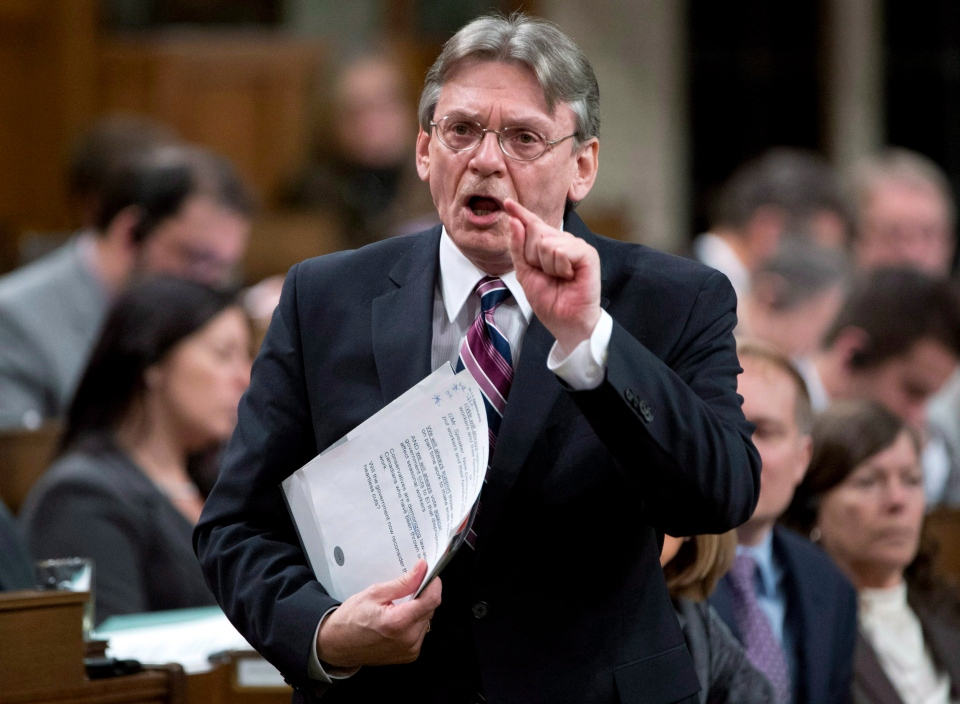 NDP MP David Christopherson rises to question the government during question period in the House of Commons in Ottawa, Monday, Feb. 4, 2013. (The Canadian Press / Adrian Wyld)