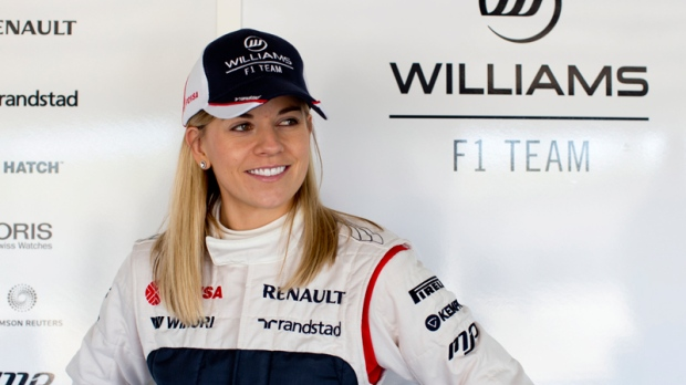 Susie Wolff at the Monte Blanco Circuit in Spain