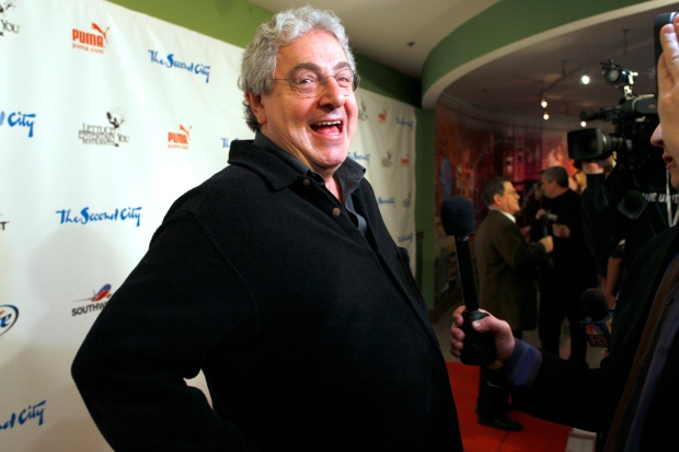 Actor and Director Harold Ramis laughs as he walks the Red Carpet to celebrate The Second City's 50th anniversary in Chicago, Dec. 12, 2009. (AP / Jim Prisching)