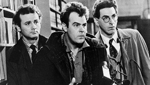 "In an undated file photo, Bill Murray, Dan Aykroyd, centere, and Harold Ramis, right, appear in a scene from the 1984 movie ""Ghostbusters"". (AP Photo, File)"
