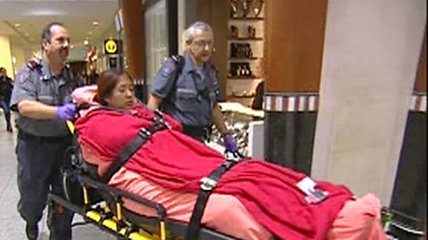 Paola Ortiz will spend the day in hospital before being sent to Mexico (Sept. 20, 2011)