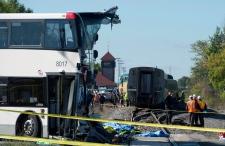 Bus collides with VIA Rail train in Ottawa