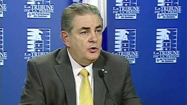 The head of Quebec's anti-corruption unit, Jacques Duchesneau is seen at a press conference in this undated video image.