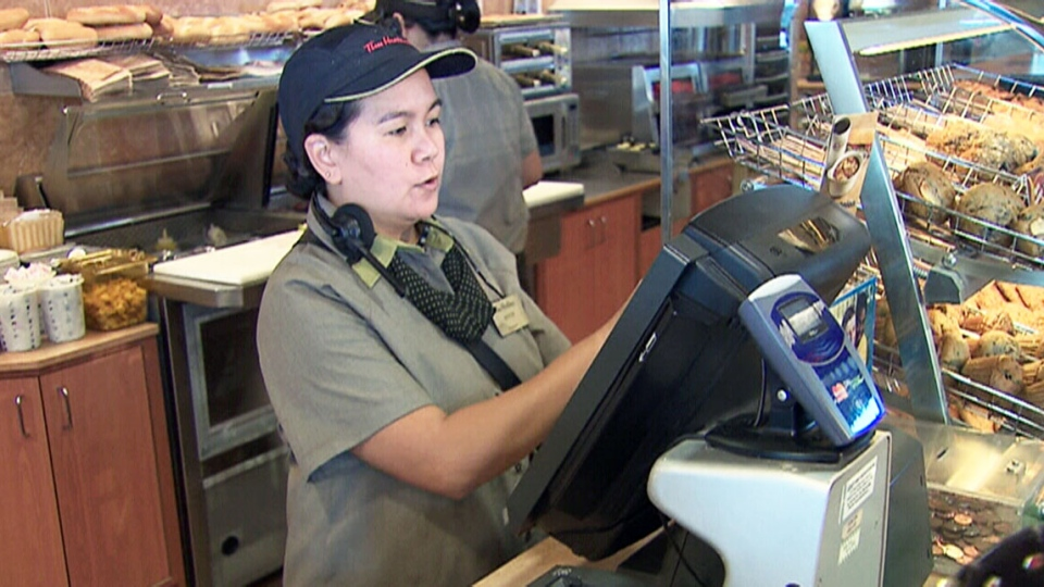 A computer virus knocked cash registers offline at an unconfirmed number of Tim Hortons stores.