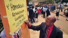 Anti-gay activist in Kampala, Uganda.