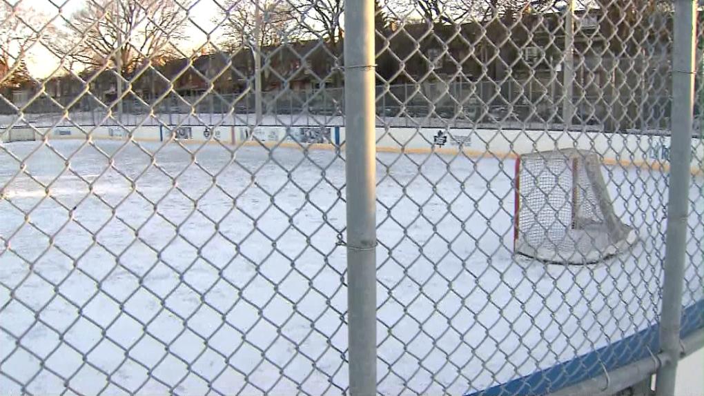 Outdoor skating rink