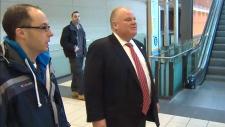 Rob Ford arrives in Ottawa