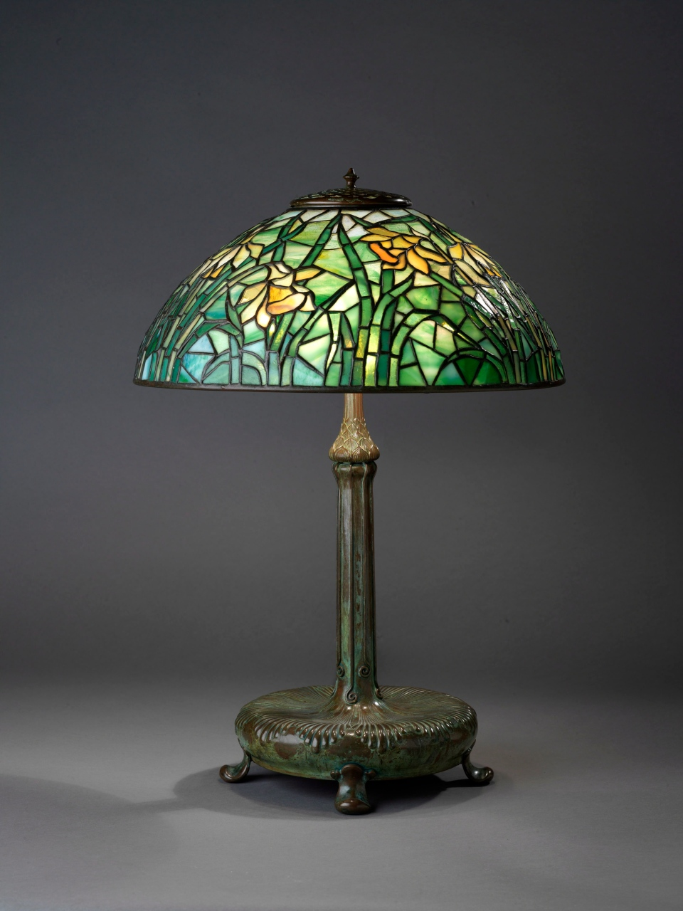 "A Tiffany ""Daffodil"" table lamp is shown in a handout photo. THE CANADIAN PRESS/HO Royal Ontario Museum-Brian Boyle"