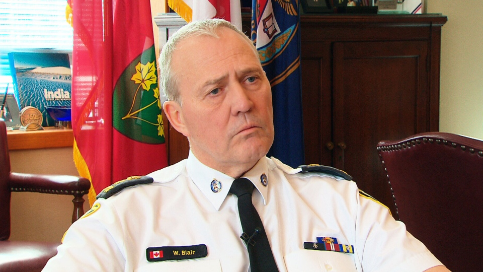 Toronto Police Chief Bill Blair said he was deeply offended by the language Mayor Rob Ford used during an expletive-laden rant that was captured on camera.
