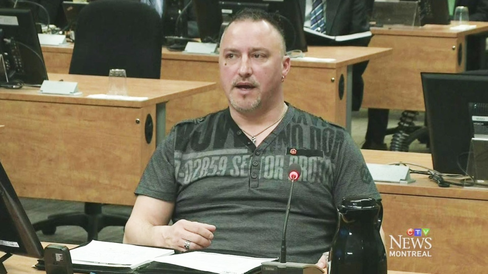 'Rambo' Gauthier admitted to the Charbonneau Commission he used intimidation tactics, but said it was simply to protect his workers on Wednesday, Feb. 26, 2014.