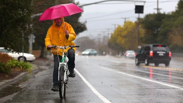 Rain comes to California