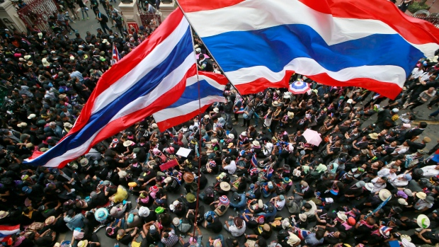 Thai protesters take to streets