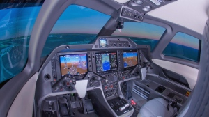 The interior of CAE's Phenom 100 flight simulator is shown in this company handout photo. Flight training and simulator company CAE Inc. says it won contracts valued at more than $300 million from 15 airlines, including Air Canada. (THE CANADIAN PRESS/HO, CAE)