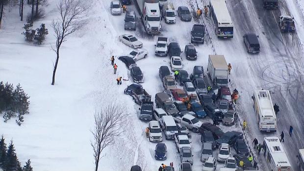 Feb  2014: 101-vehicle pileup on Hwy  400 | CTV News Toronto