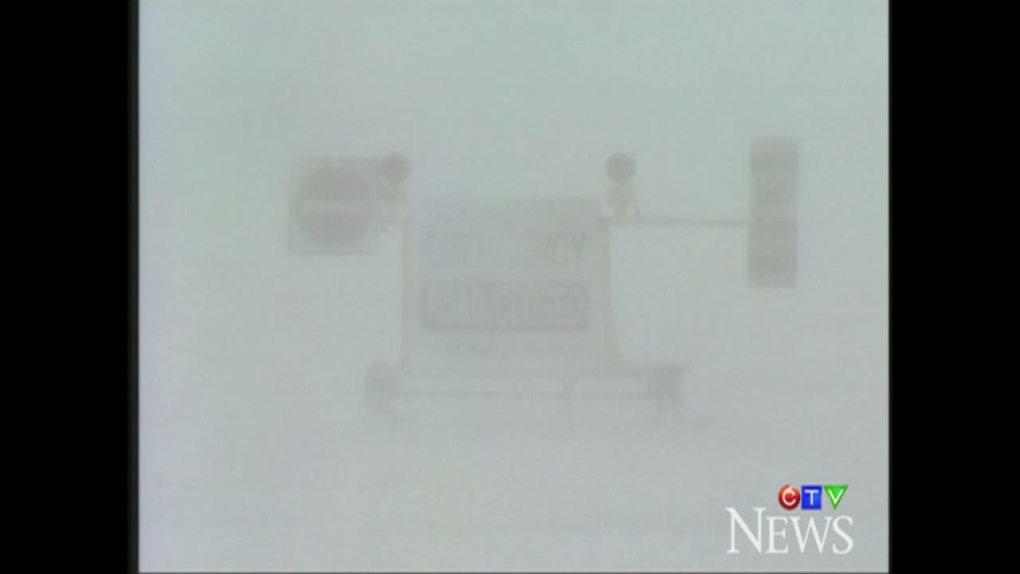 Whiteout road closed