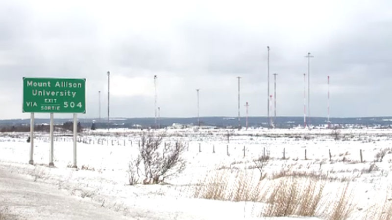 radio transmission towers