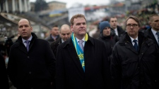 John Baird Canadian delegation in Ukraine Kyiv