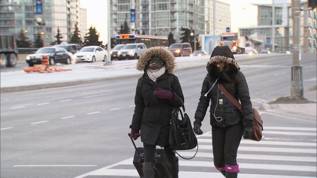 Toronto exterme cold alert wind chill winter