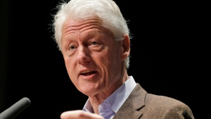 In this Oct. 30, 2013 file photo, former President Bill Clinton speaks in Charlottesville, Va. (AP / Steve Helber)