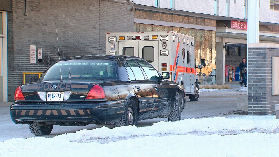 Ontario Provincial Police and paramedics responded to a call about a pedestrian found wandering on a highway on-ramp east of Toronto on Feb. 28, 2014.