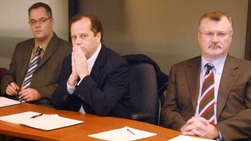 Brian Topp is seen participating in a meeting in November 2005