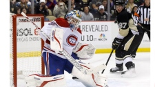 Montreal Canadiens goalie Peter Budaj, of Slovakia