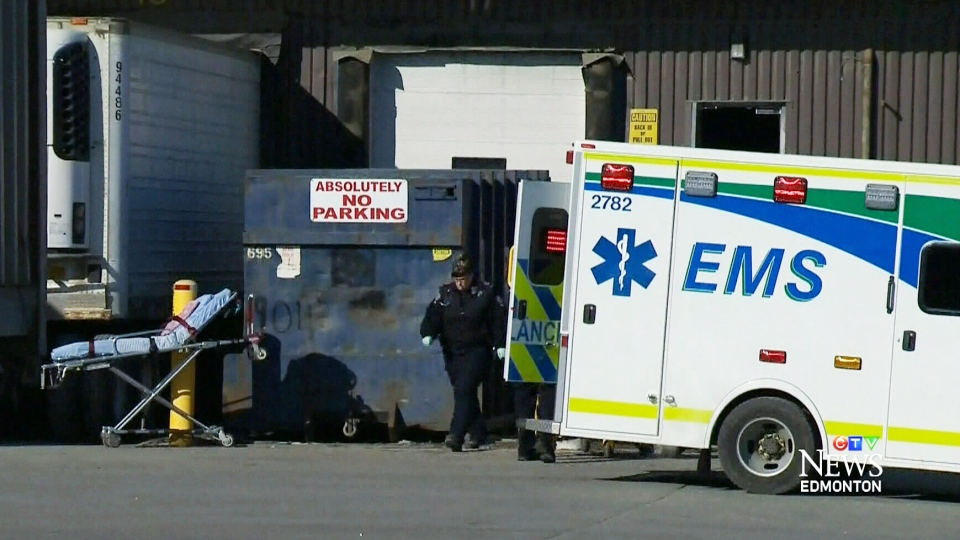 EPS and paramedics on the scene of a stabbing that left two dead, four others injured in the area of 161 St. & 121 A Ave. on Friday, Feb. 28, 2014.