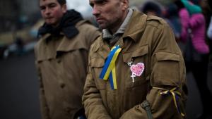 Ukraiane protesters take to Kiev Square