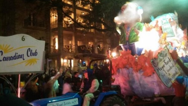 Rob Ford Mardi Gras float