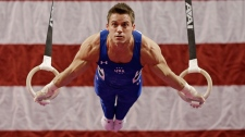 Sam Mikulak during the American Cup