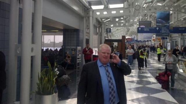 After hinting that he would soon be a guest rather than mere comedic fodder on a late night TV talk show, Toronto Mayor Rob Ford is on a 'road trip' to Los Angeles this weekend. (Image courtesy: @TOMayorFord)