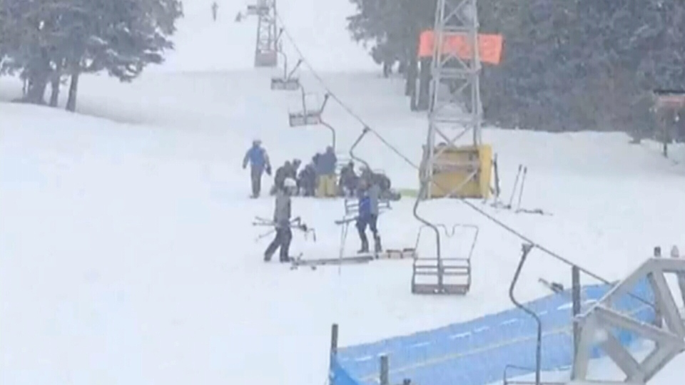 Four people were injured, two critically, after a chairlift incident at Crystal Mountain Ski Resort in B.C. on Saturday, March 1, 2014.