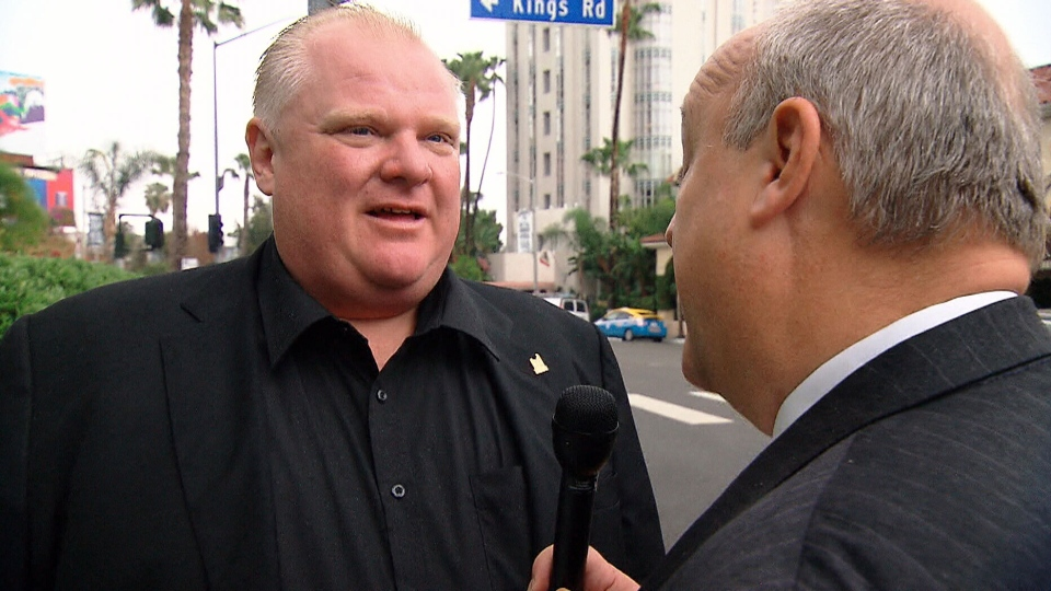 Mayor Rob Ford in Los Angeles on Oscars weekend I m here