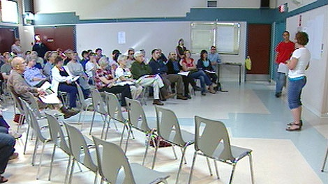 Dozens of Greenfield residents gathered to discuss their plans to fight a proposed cell phone tower slated to be built in their neighbourhood on Saturday, September 24.