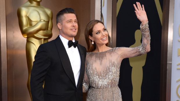 Brad Pitt and Angelina Jolie arrive Oscars