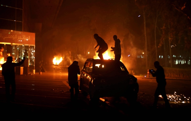 Protesters in Libya