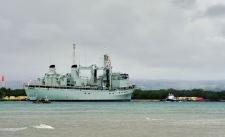 HMCS Protecteur towed