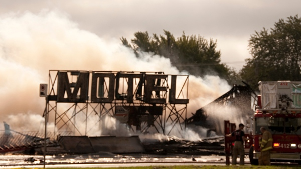 MyNews contributor Susan Pelley snapped this photo of the aftermath of a fire at the Miss Dorion strip club in Montreal on Sunday, Sept. 25, 2011.