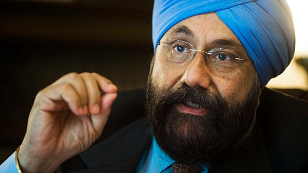Balcorp Ltd. President Baljit Chadha poses at his office in Montreal, Monday, Sept., 19, 2011. Chadha, a prominent asbestos merchant, is headed to Parliament Hill as part of a broader counter-offensive to salvage the reputation of his beleaguered industry.(THE CANADIAN PRESS/Graham Hughes)