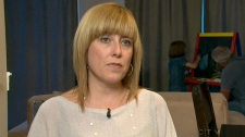 Cheryl Liuzza is seen speaking to CTV News about her daughter's rare disease.