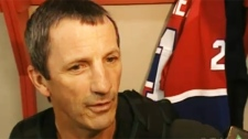 Longtime former Habs captain and coach Guy Carbonneau shared memories of his onetime skipper Pat Burns at the new arena in Stanstead Sunday.